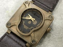 Bell And Ross Skull Bronze (NEW) RARE -Swiss Hour