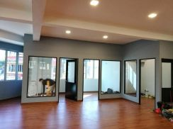 Gypsum board partition for office renovation