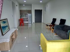 Emira Beside AEON Mall, 2 C.Park, 3AC, WH, Fridge, Beds, Sofa,Curtains
