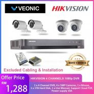 Hikvision 4CH H.264+ DVR AND HD CAMERAS