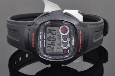 Casio Digital Dual Time Rubber Watch W-210-1CVDF
