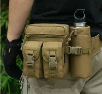 Military Tactical Outdoor Double Hiking Pouch Bag