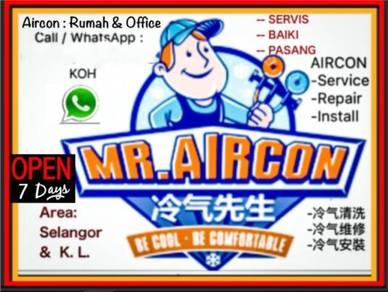 Service Repair Install Aircond Baiki Servis Aircon