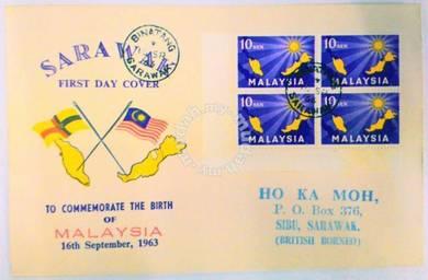 1963 FDC Birth of Malaysia