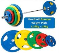 BPS 15kg Olympic Handhold Bumper Weight Plates
