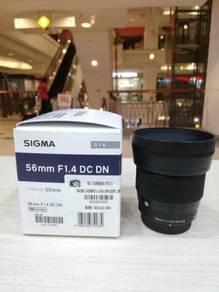 Sigma 56mm f1.4 dc dn lens (micro four third)
