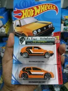 Lot Hotwheels Volkswagen Golf MK2+MK7