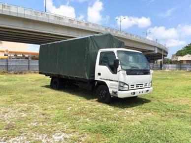 Isuzu n-series canvas cargo