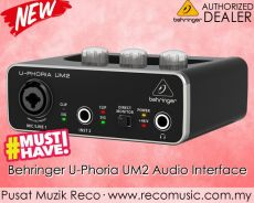 New Behringer UM2 U Phoria USB Audio Interface