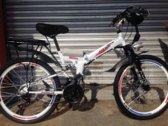 24 inch 21 speed folding electric mountain bicycle