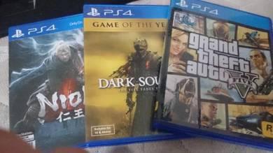 Playstation 4 games gta 5 nioh dark soul 3