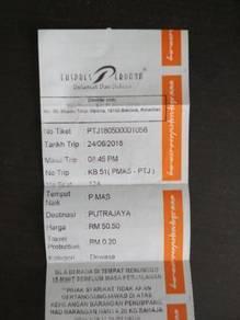 Tiket Bas Pasir Mas-Putrajaya