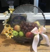 Fruits and cookies basket