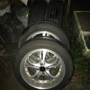 Myvi sport rims 16 inch tyre 75%