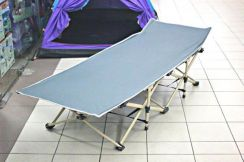 Folding Bed Camping Cot Easy Setup (Grey)
