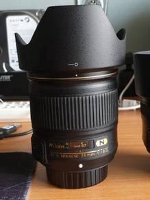 Nikon af-s 28mm f1.8G Nano