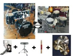 Superiorstar Drum Set with 4 cymbals