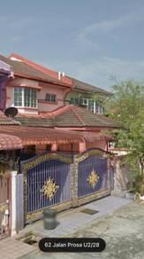 20x65 2 stry terrace house, sell below 40%, seksyen u2, shah alam