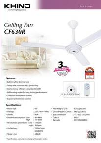 Khind 3Speed Remote Control Ceiling Fan CF630R NEW