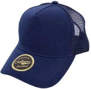 Trucker Netting Cap (NAVY BLUE) Belian Borong H709