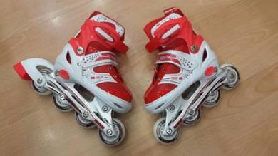 Kasut roda new rollerblade for kids jb red