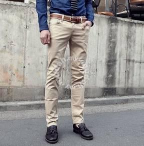 Cozart Men's Korean Trousers Casual Pants (Cream)
