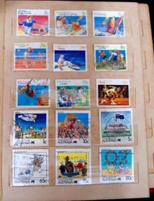 Stamps Australia - Sports & Living Together 15 pcs