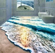 Waterproof Anti-slip 3D Epoxy floor for Home Floor