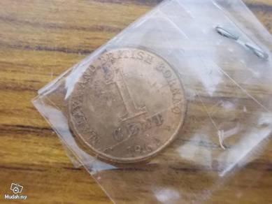 Malayan and British Borneo 1 cent coi