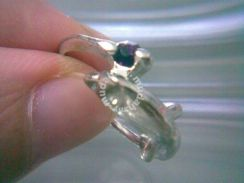 ABRSM-D024 Silver Metal Cute Lovely Dolphin Ring
