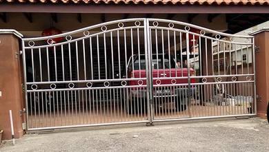 Stainless Steel Swing Gate (SW0004) Seremban