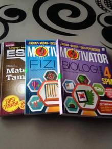 Buku fizik, biologi & matematik tambahan ting 4