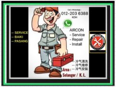 Servis Baiki Pasang Aircond Service Aircon Repair