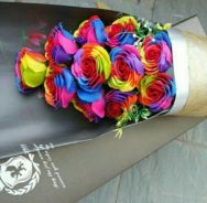 11Pcs Rainbow Soap Roses with Gift Box