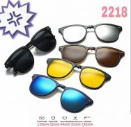 Sunglasses magnetic clip on 6 in 1 2218A B2