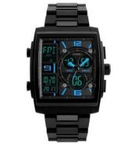 SKMEI 1274 Dual Time LED Display Men Spors Watch