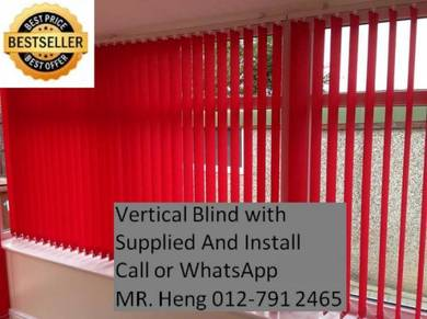 New Office Vertical Blind - with install 2434g