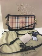 Burberry Haymarket Peyton Wristlet Crossbody Bag