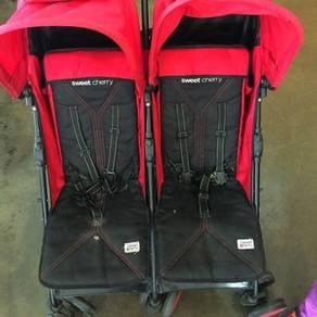 Twin stroller sweet cherry