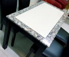 Dining room set marble table
