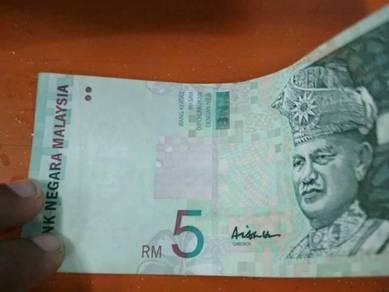 RM 5 aisyah signature