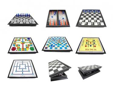 7 in 1 Family Game - Chess, Snakes.(Folding Board)