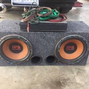 Speaker box 10inci & amplifer