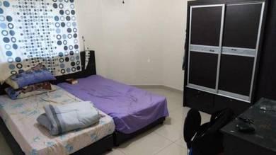 Fully Furnished Big Room,Seri Mutiara Apartment,Bandar Seri Alam,Masai