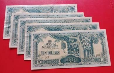 JIM Duit Zaman Jepun 10 Dollars (5 pcs)-Set C