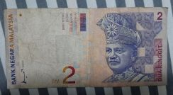 Old Malaysian 2 ringgit note