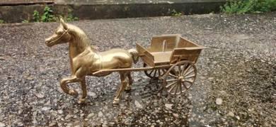 BER1 Antique Kereta Kuda Tembaga Antik England
