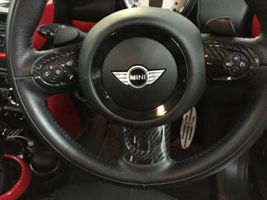 MINI Cooper Dry Carbon Steering Wheel Cover Deco