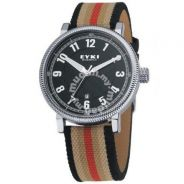 Black Endurance Cloth Leather Watch- New