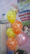 Balloon helium and flower bouquet for surprise del